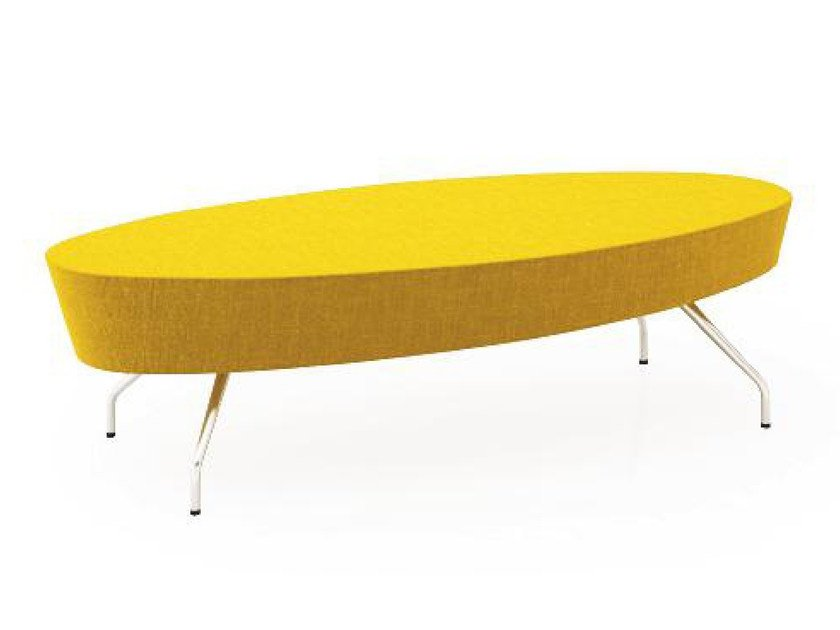 Upholstered fabric bench EL2P | Bench by TALIN