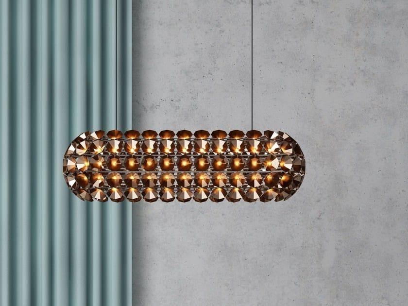 LED metal pendant lamp ELAINE OVAL | LED pendant lamp by Quasar