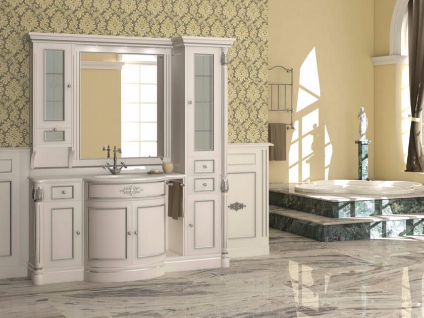 Lacquered vanity unit with mirror ELBA CM06E by LA BUSSOLA