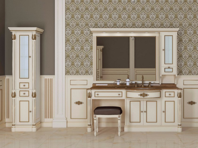 Lacquered vanity unit with mirror ELBA CM07E by LA BUSSOLA