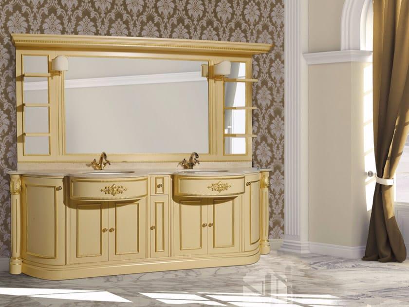 Double vanity unit with mirror ELBA CM14E by LA BUSSOLA
