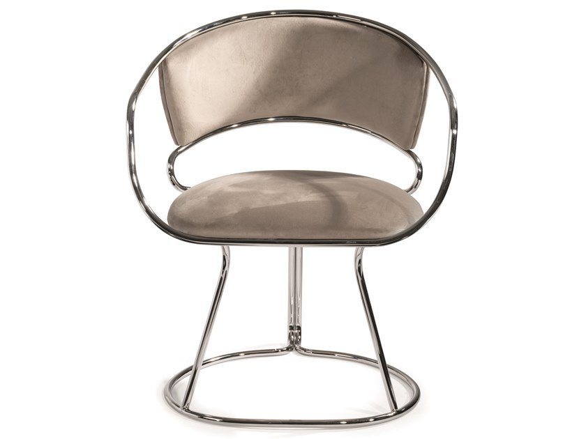 Upholstered metal easy chair with armrests ELEANOR by Visionnaire