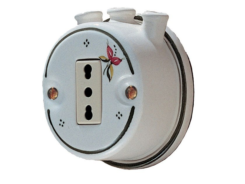Single ceramic electrical outlet ACCESSORI | Electrical outlet by FERROLUCE