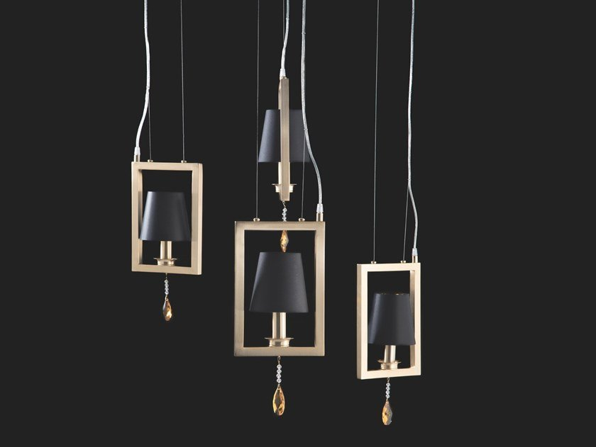 Indirect light pendant lamp with crystals ELEGANCE | Pendant lamp by Aiardini
