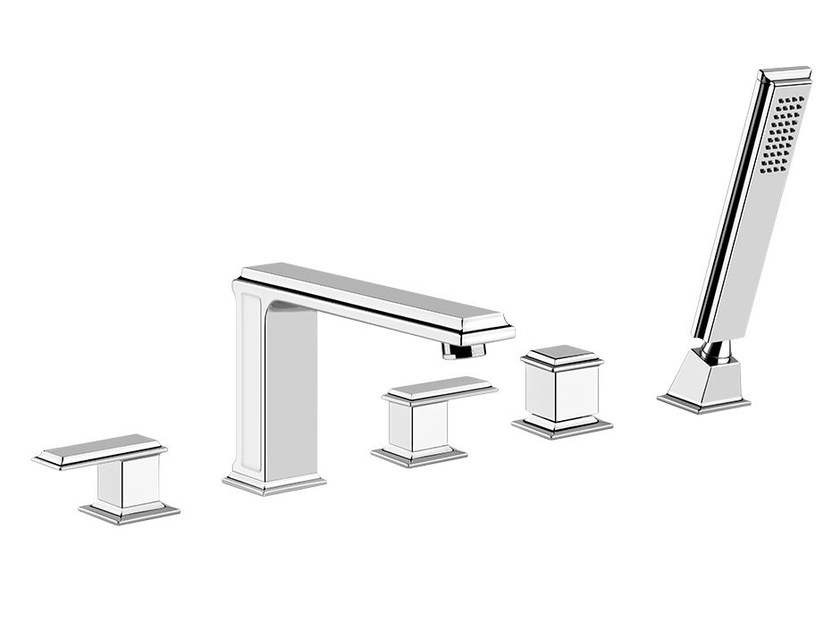 5 hole bathtub tap ELEGANZA BATH 46040 by Gessi