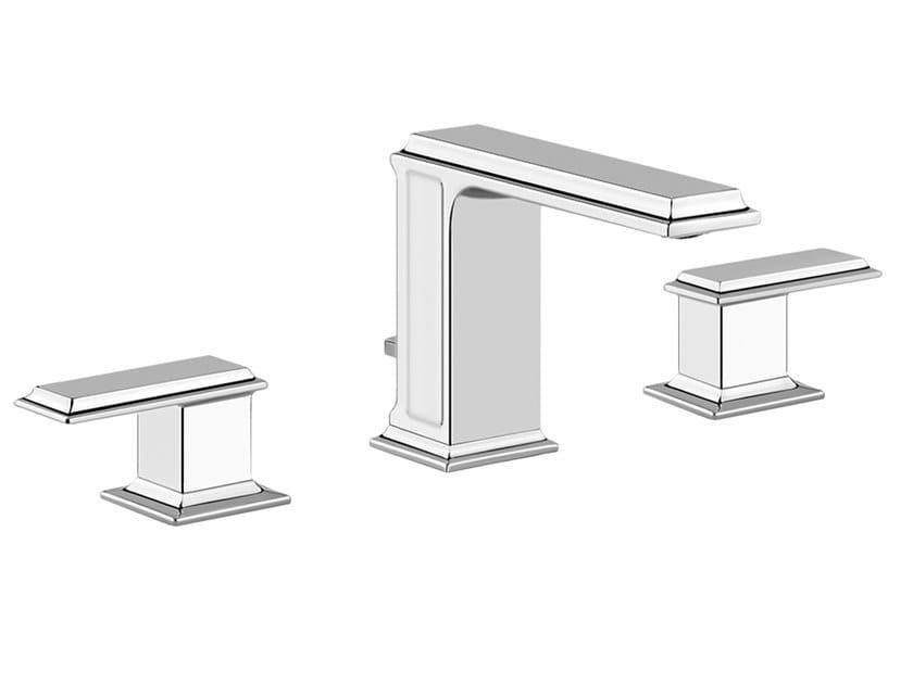 3 hole countertop metal washbasin mixer ELEGANZA | Countertop washbasin mixer by Gessi