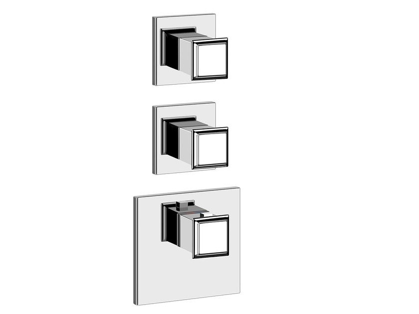 3 hole thermostatic shower mixer ELEGANZA SHOWER 46224 by Gessi