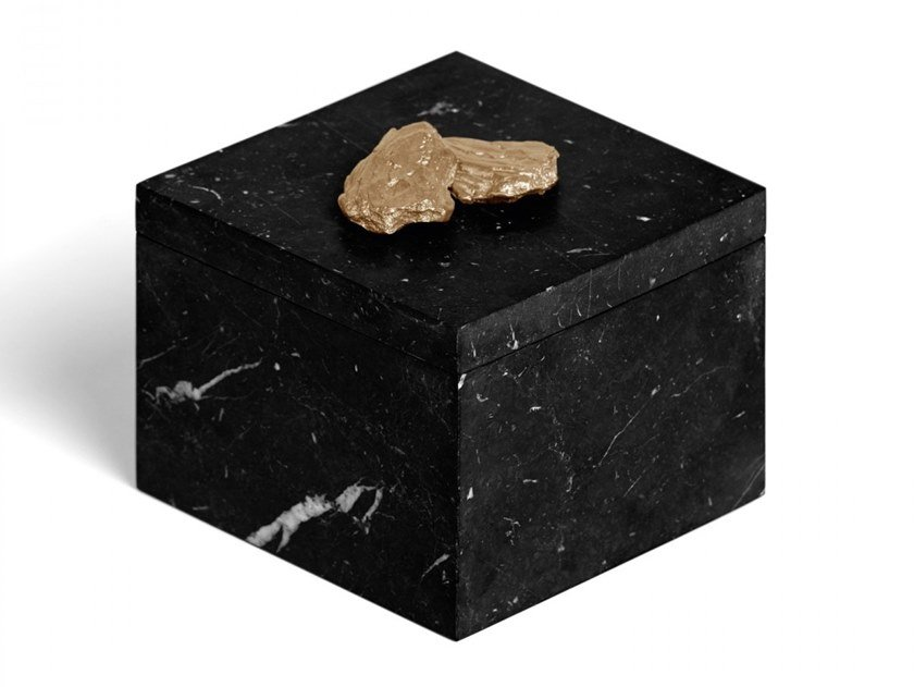 Marble storage box ELEMENT by Ginger & Jagger
