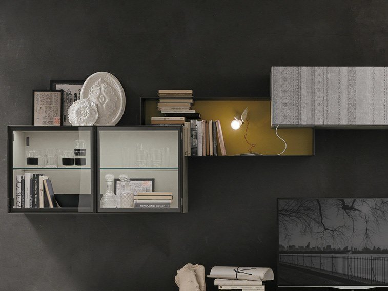 Open metal wall cabinet ELEMENTO Z by Gruppo Tomasella