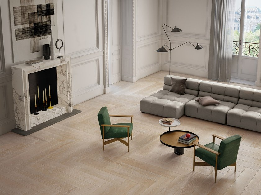 Indoor porcelain stoneware wall/floor tiles with wood effect ELEMENTS NATURAL IVORY by CERAMICHE KEOPE