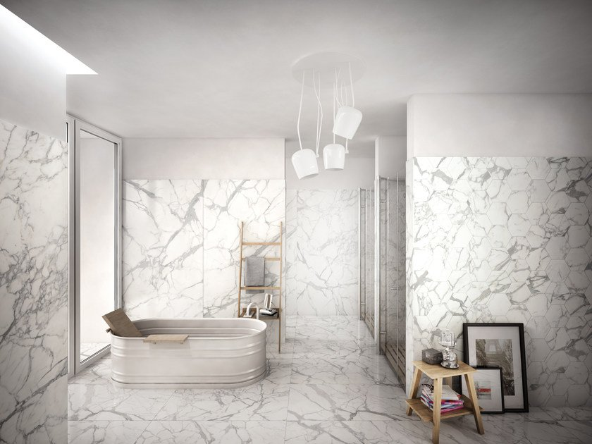 Indoor porcelain stoneware wall/floor tiles ELEMENTS LUX CALACATTA by CERAMICHE KEOPE