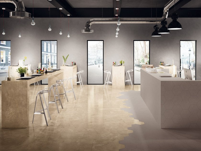 Indoor porcelain stoneware wall/floor tiles ELEMENTS LUX CREMA BEIGE by CERAMICHE KEOPE