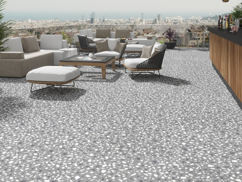 Indoor/outdoor porcelain stoneware flooring ELEMENTS by Revigrés