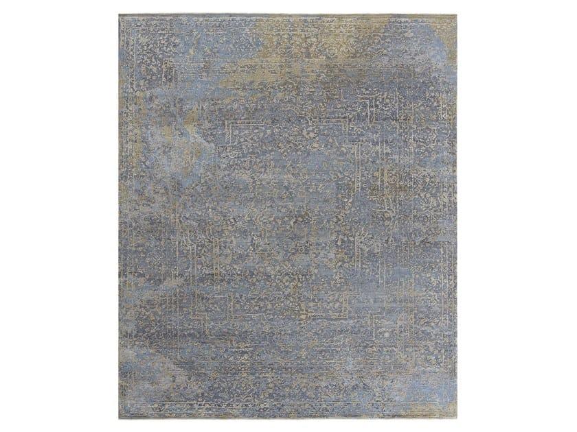 Tappeto fatto a mano su misura ELEMENTS SAVONNERIE GOLD BLUE GREY by Thibault Van Renne