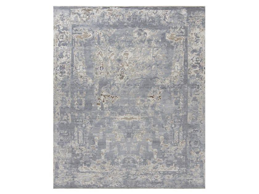 Tappeto fatto a mano su misura ELEMENTS V1 AZTEC WHITE GREY by Thibault Van Renne