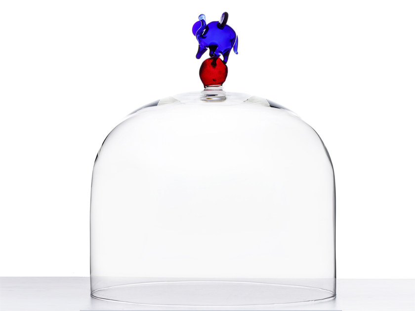 Borosilicate glass decorative object ELEPHANT by Secondome Edizioni