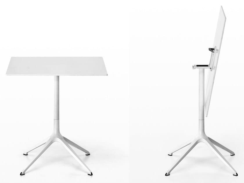 Tavolo a ribalta quadrato in alluminio pressofuso ELEPHANT | Tavolo quadrato by Kristalia