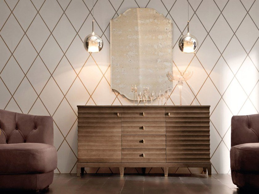 Wooden sideboard with doors ELETTRA   Sideboard by OPERA CONTEMPORARY