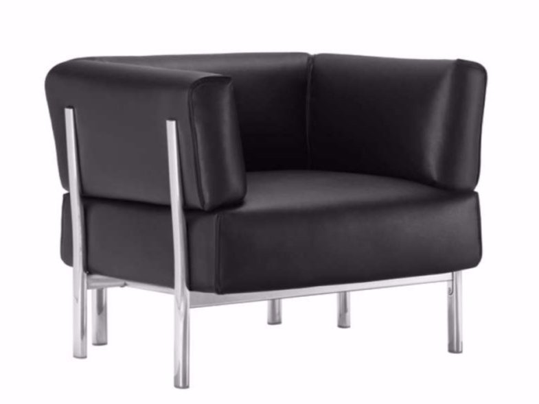 Leather armchair with armrests ELEVEN - 860 | Leather armchair by Alias