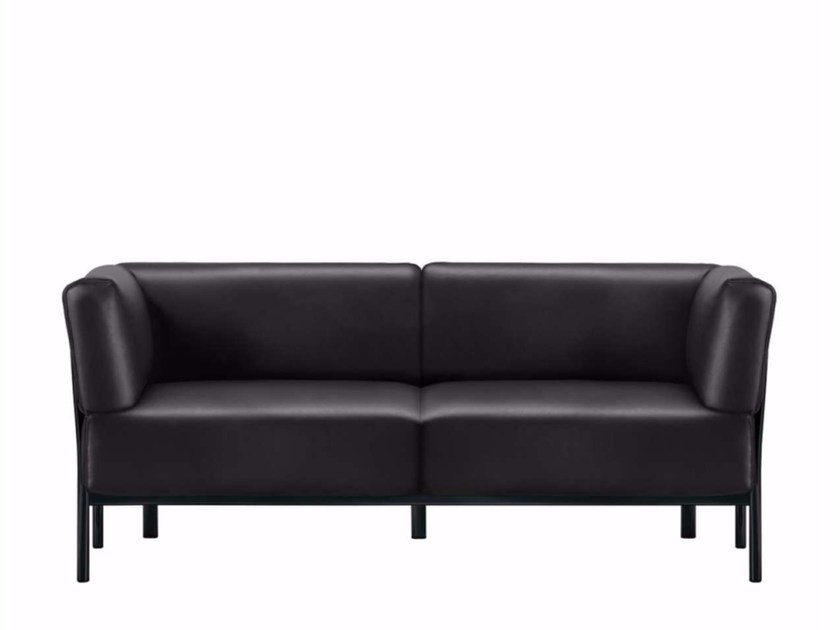 2 seater leather sofa ELEVEN - 861 | Leather sofa by Alias