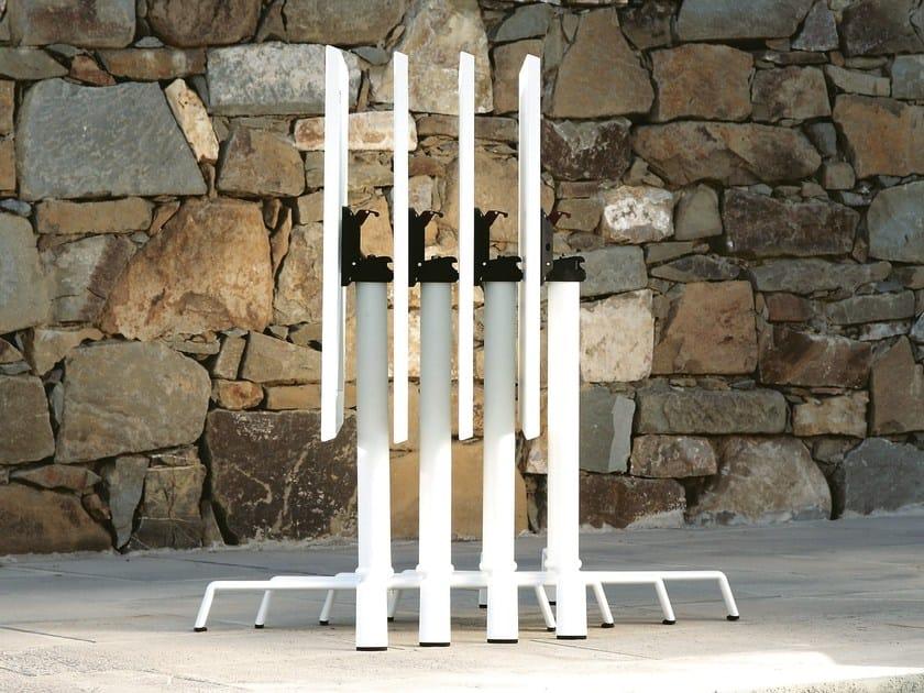 Folding aluminium table base with 4-spoke base ELICA | Folding table base by FAST