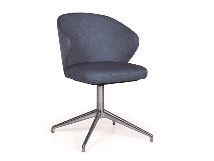 Office chair with 4-Spoke base ELICIA CB METAL by Fenabel