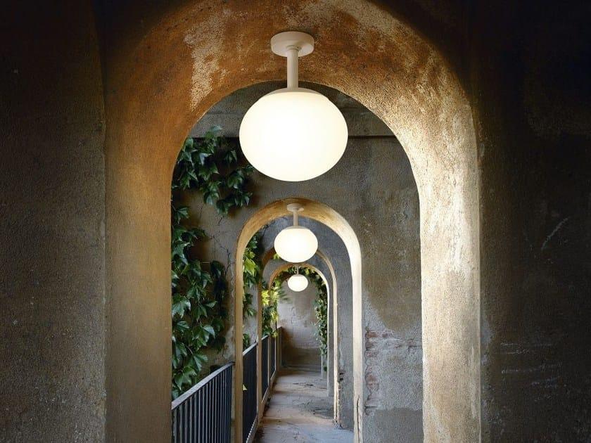 Lampada da soffitto per esterno in polietilene ELIPSE PF 50 OUTDOOR by BOVER