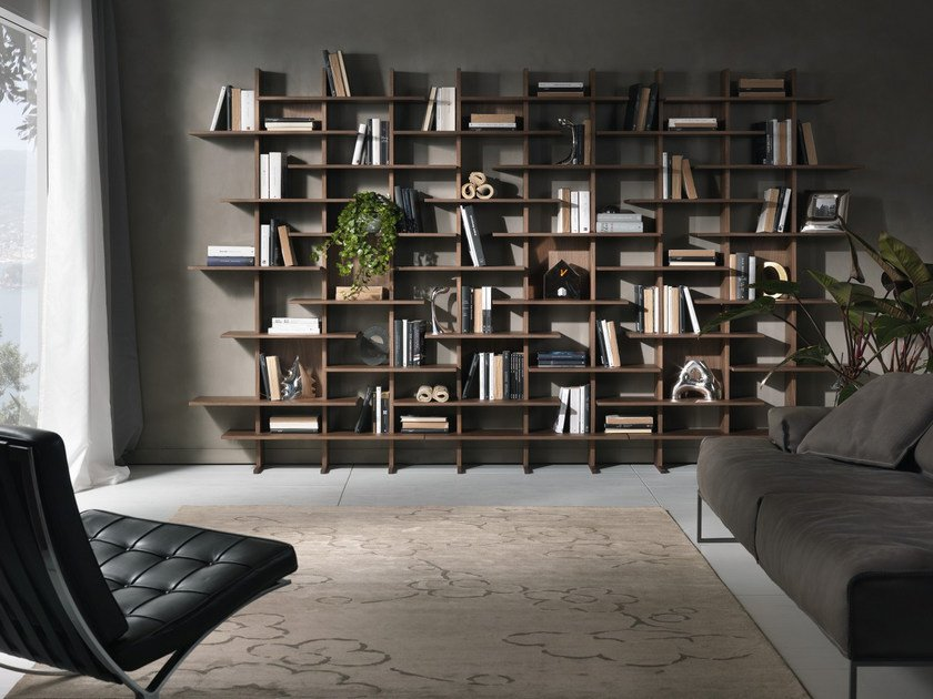 Open modular bookcase ELISABETH by Pacini & Cappellini