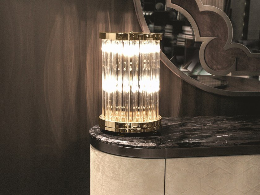 Crystal table lamp ELISABETH | Table lamp by Longhi