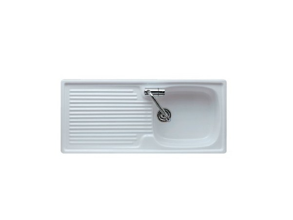 Single built-in sink with drainer ELISEO 100 by GALASSIA