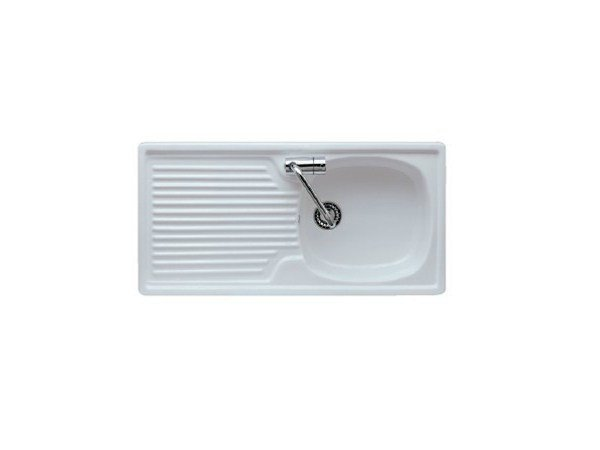 Single built-in sink with drainer ELISEO 90 by GALASSIA