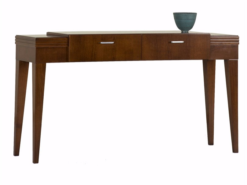 Rectangular wooden console table with drawers ELIZA | Console table by SELVA