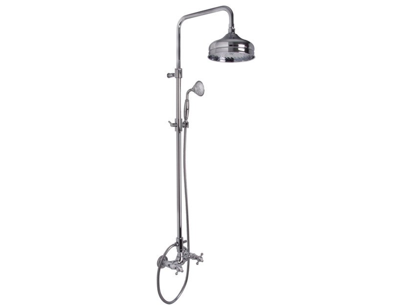 Wall-mounted shower panel with overhead shower ELIZABETH F5085/2 | Shower panel by FIMA Carlo Frattini