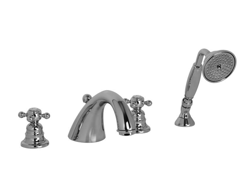 4 hole bathtub tap with hand shower ELIZABETH F5094 | Bathtub tap by FIMA Carlo Frattini
