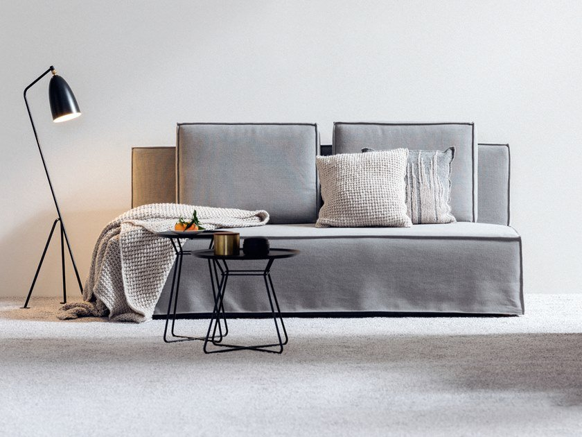 Fabric sofa bed ELL by SCHRAMM