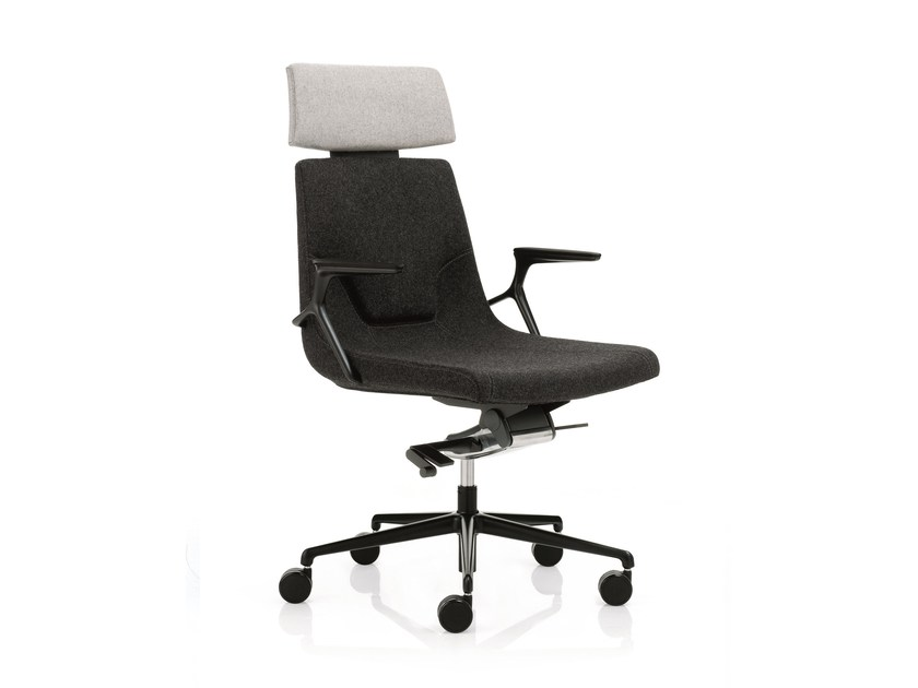 Low back executive chair with 5-spoke base with headrest ELLE 02 | Executive chair with headrest by Emmegi