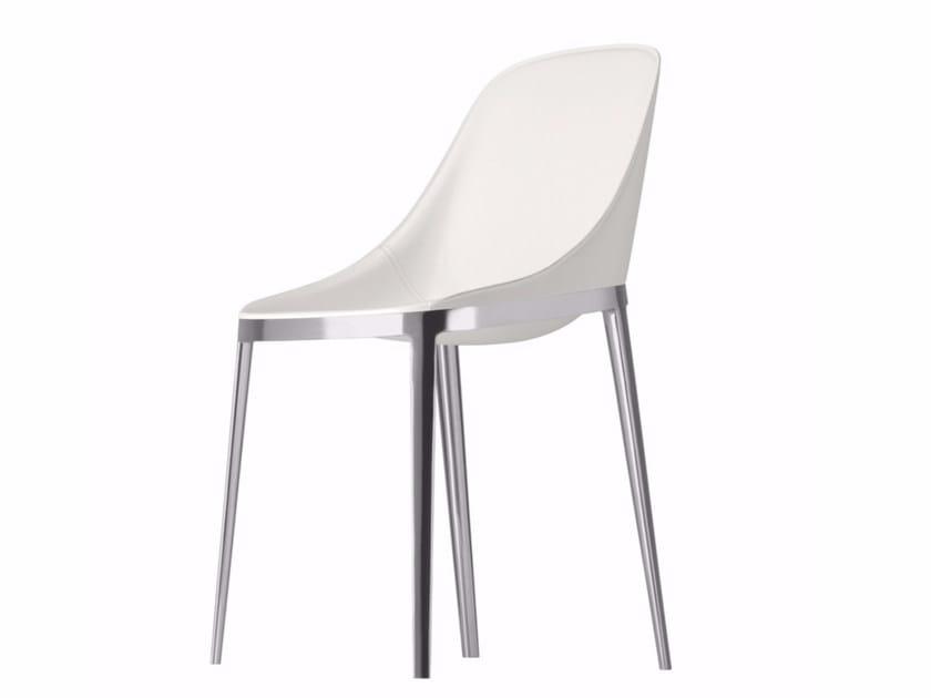 Tanned leather chair ELLE - 070   Tanned leather chair by Alias