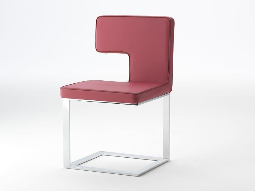 Leather chair ELLE | Chair by Paolo Castelli