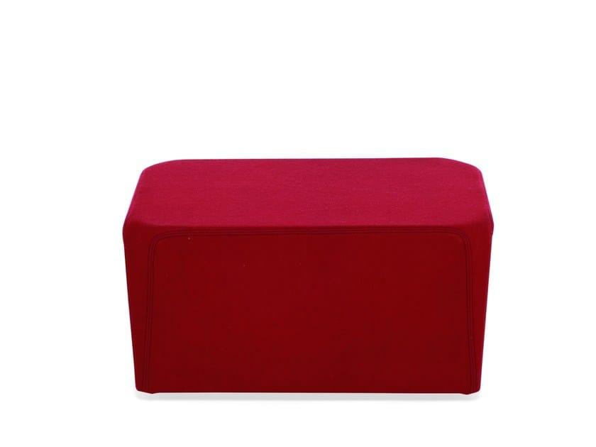 Fabric pouf ELLE CUBE by Emmegi
