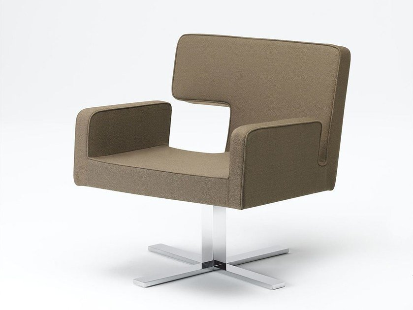 Fabric easy chair with 4-spoke base ELLE | Easy chair by Paolo Castelli