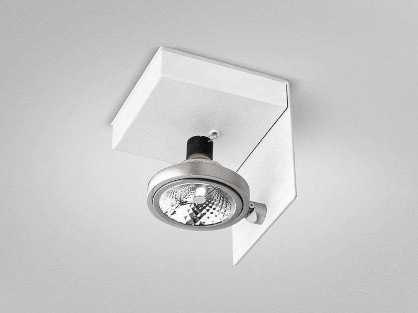 Adjustable ceiling metal spotlight ELLE | Adjustable spotlight by PANZERI