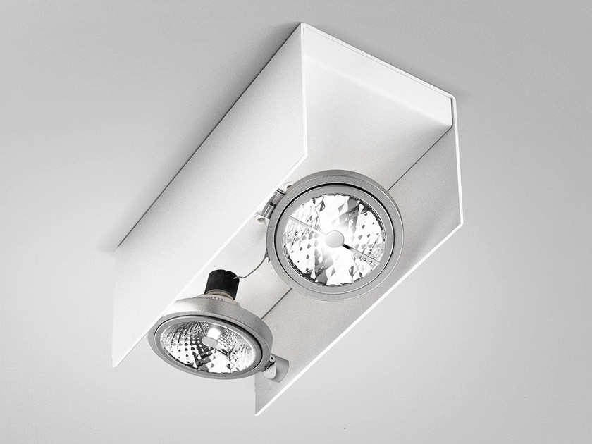 Adjustable ceiling metal spotlight ELLE | Spotlight by PANZERI