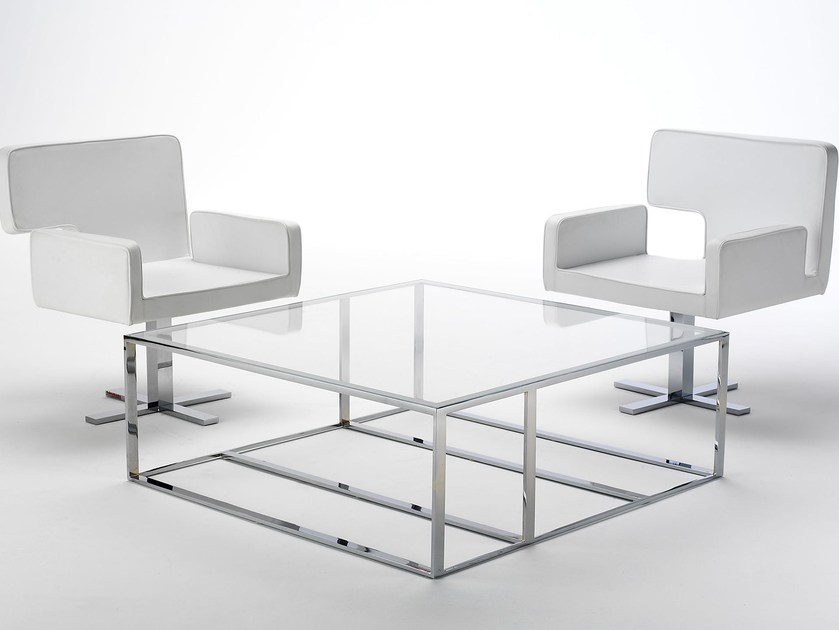 Low square coffee table ELLE | Square coffee table by Paolo Castelli