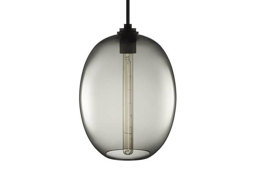Direct light handmade blown glass pendant lamp ELLIPSE GRAND by Niche Modern