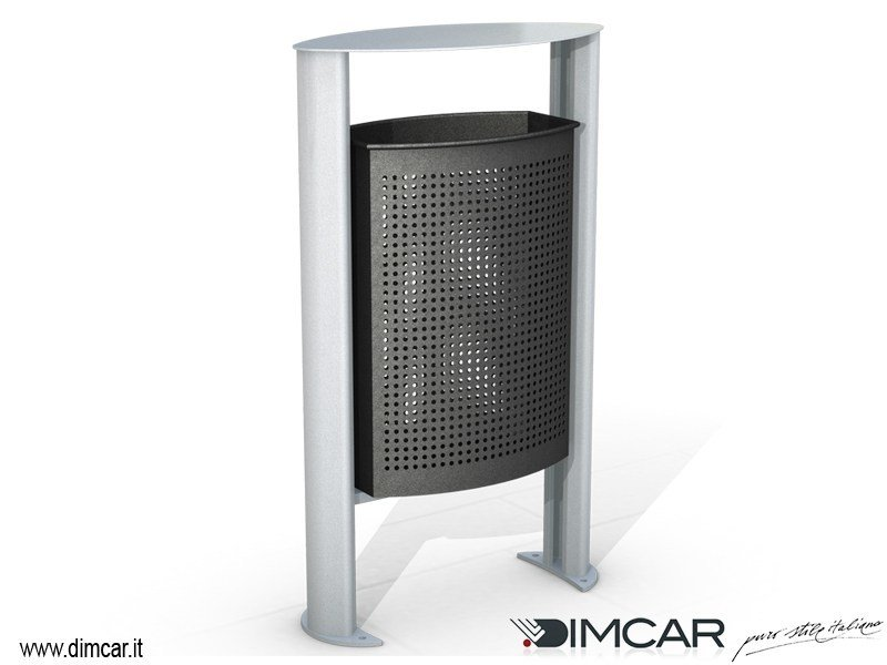 Outdoor litter bin with lid Cestino Ellipso by DIMCAR