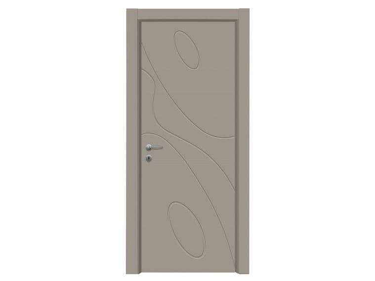 Hinged lacquered wooden door ELLISSE | Lacquered door by NUSCO