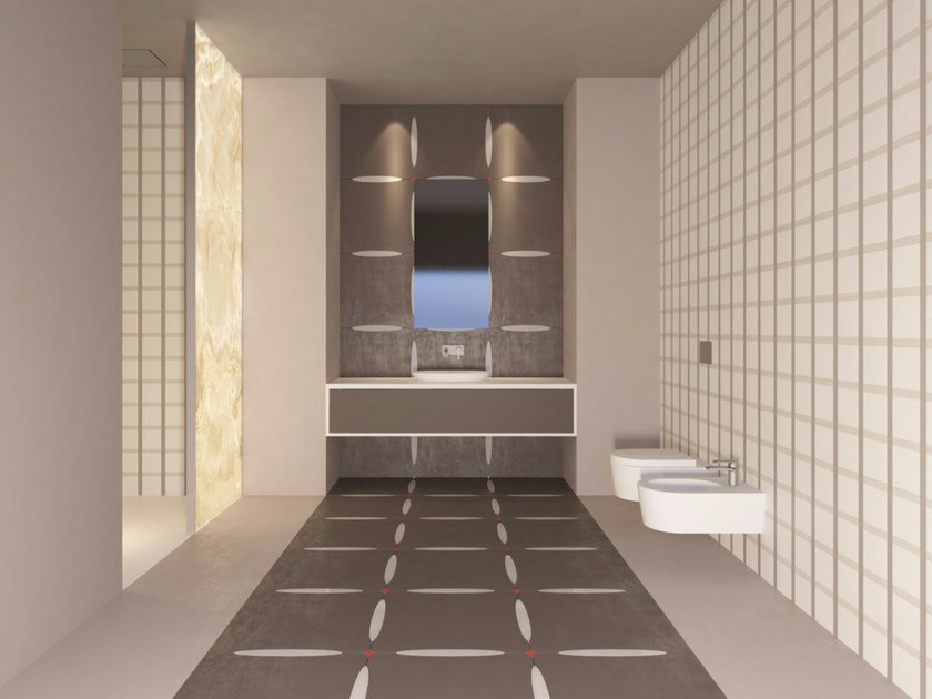 Porcelain and glass stoneware wall/floor tiles ELLY by VETROVIVO