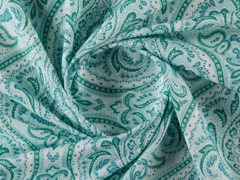 Paisley printed cotton fabric for curtains ELODIE by More Fabrics