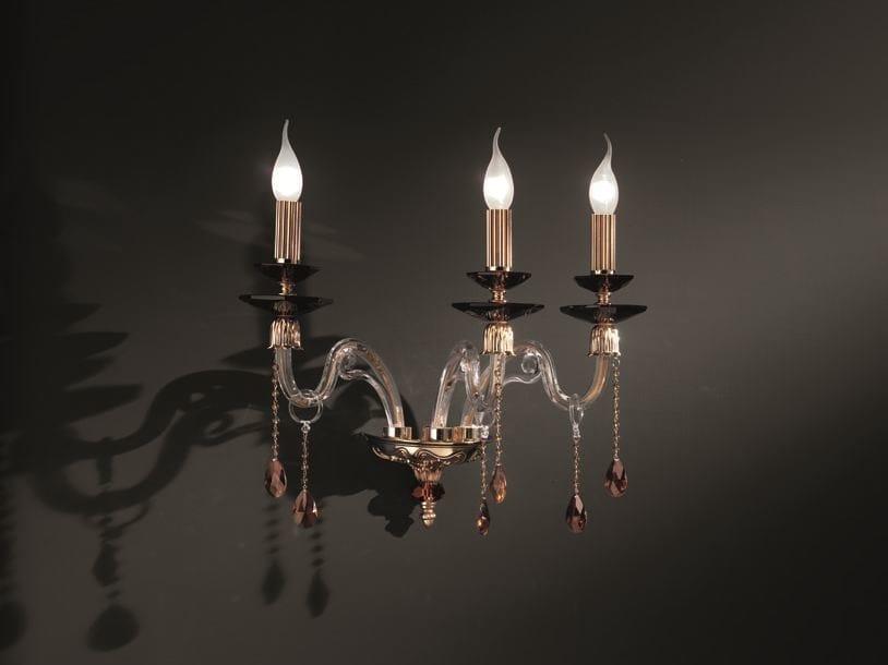 Wall light with Swarovski® crystals ELSA SPECIAL EDITION A3 by Euroluce Lampadari