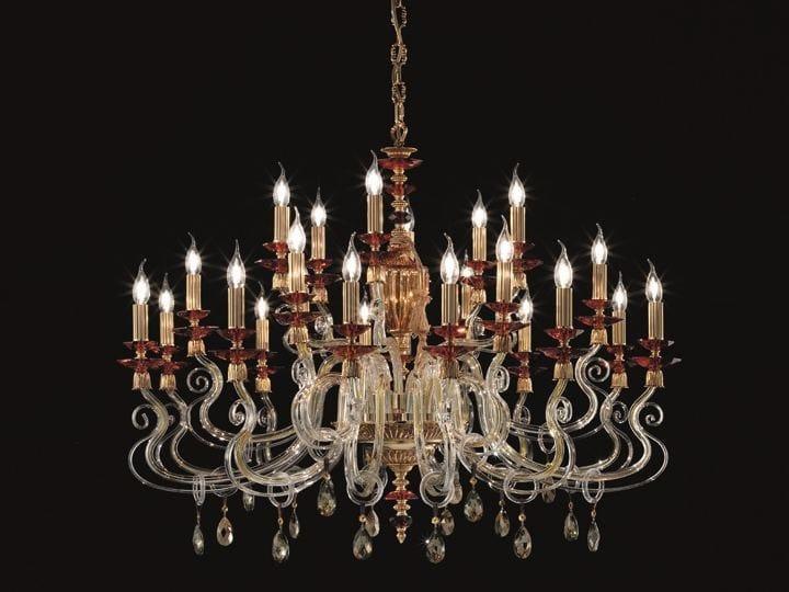 Chandelier with Swarovski® Crystals ELSA SPECIAL EDITION L12+6+6 by Euroluce Lampadari